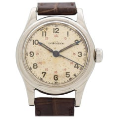 Vintage Longines Military WWII-Era Stainless Steel Watch, 1949