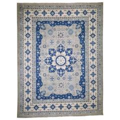 Vintage Look Kazak Pure Wool Hand Knotted Oriental Rug