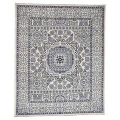 Vintage Look Mamluk Pure Wool Natural Colors Hand Knotted Oriental Rug