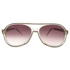 Vintage Loris Azszaro Translucent  Frame 1970's Sunglasses Paris