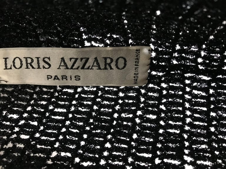 Women's Vintage Loris Azzaro Black Knit Top with Chains For Sale