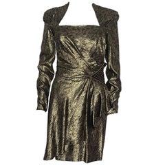 Vintage Loris Azzaro Lurex and pearl dress