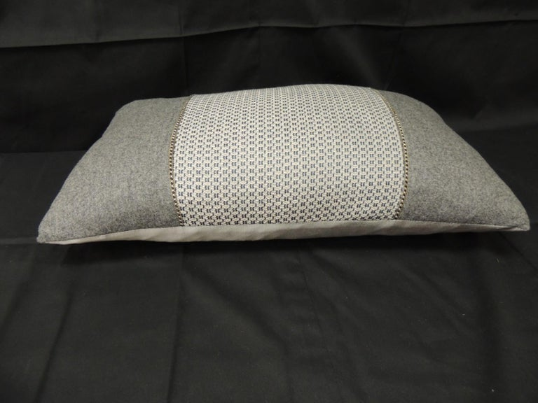 Mid-Century Modern Vintage Loro Piana Cashmere Decorative Lumbar Pillow For Sale