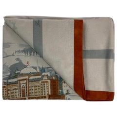 Vintage Loro Piana Grey Cashmere Throw Blanket