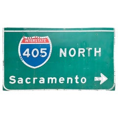 Vintage Los Angeles 405 Freeway Sign