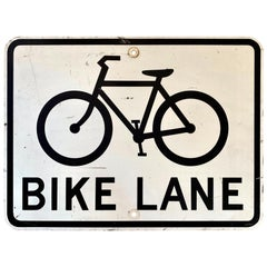 Vintage Los Angeles Bike Lane Sign