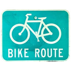 Vintage Los Angeles Bike Route Sign