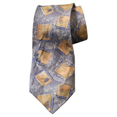 Vintage Louis Feraud 100% silk tie decorated with small frames