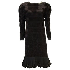 Vintage Louis Feraud Black Velvet Cocktail Dress