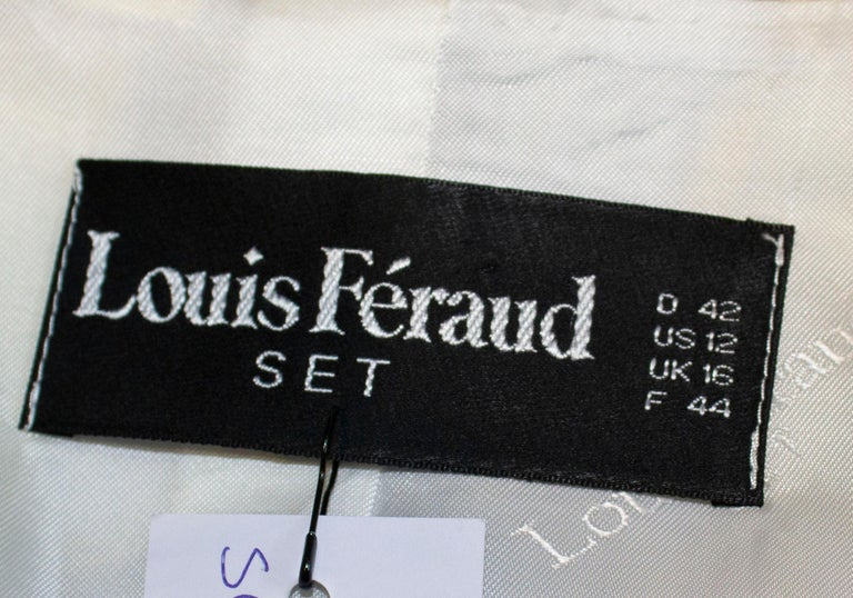 Vintage Louis Feraud Multi Colour Linen Jacket For Sale 3