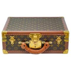 Vintage Louis Vuitton Custom Monogram Travel Jewelry Case with 4 Trays