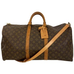 Vintage Louis Vuitton Keepall 55 Monogram Canvas with Bandoulière shoulder strap