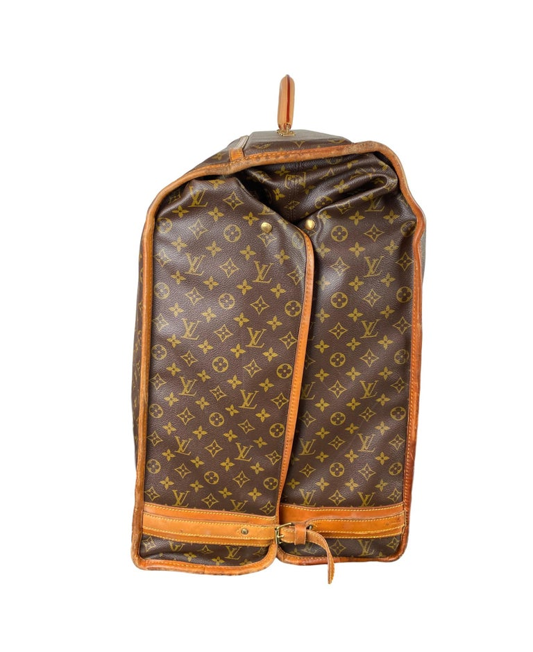 Women's or Men's Vintage Louis Vuitton Large Folding Garment Monogram Luggage, circa 1970. For Sale