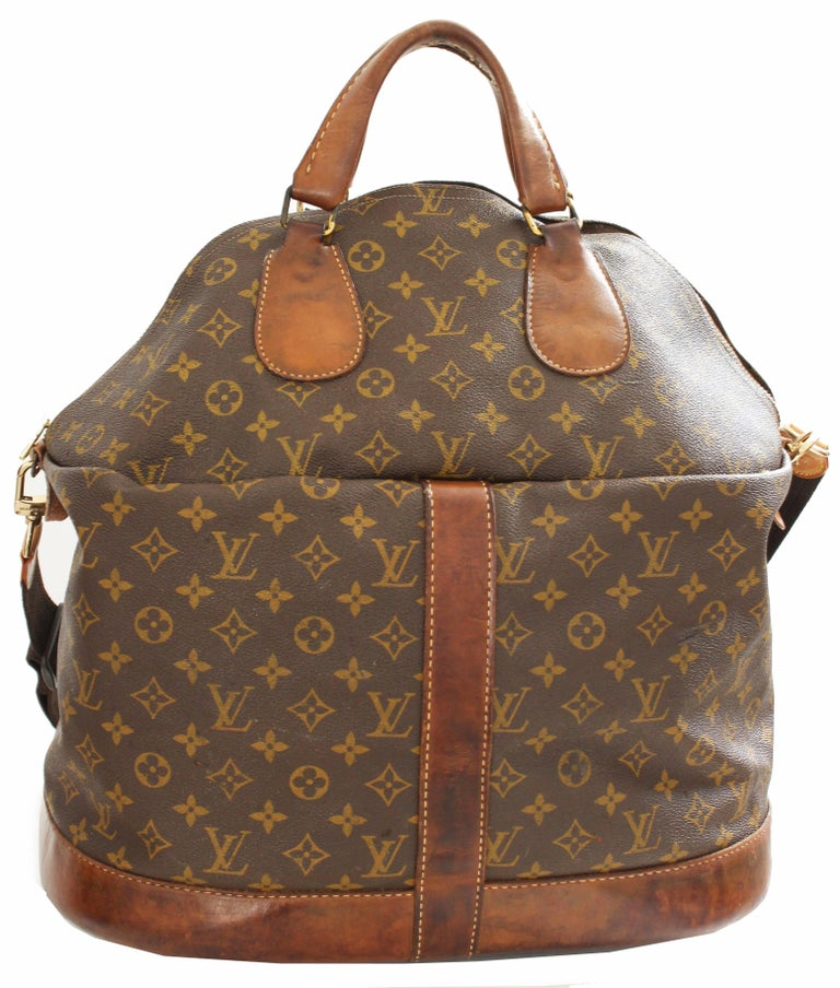 louis vuitton large steamer bag keepall monogram travel tote french company 70s for sale at 1stdibs