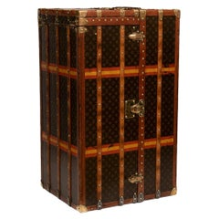 Vintage Louis Vuitton Malle Armoire Wardrobe & Chest of Drawers Trunk, c.1910