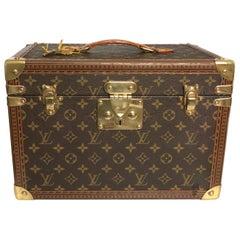 Vintage Louis Vuitton Monogram Boite Pharmacie Train Case Vanity Travel Bag