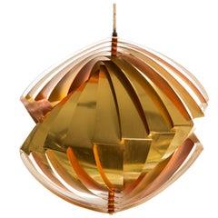 "Vintage Louis Weisdorf Midcentury Iconic ""Conch"" Pendant Lamp"