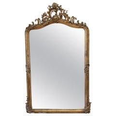 Vintage Louis XV Style Giltwood Carved Mirror