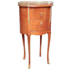 Vintage Louis XV Style Two-Drawer Side Table