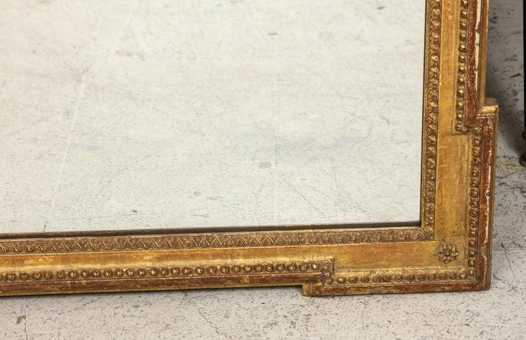 Glass Vintage Louis XVI Style Giltwood Mirror For Sale