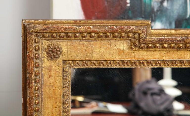 Vintage Louis XVI Style Giltwood Mirror For Sale 1