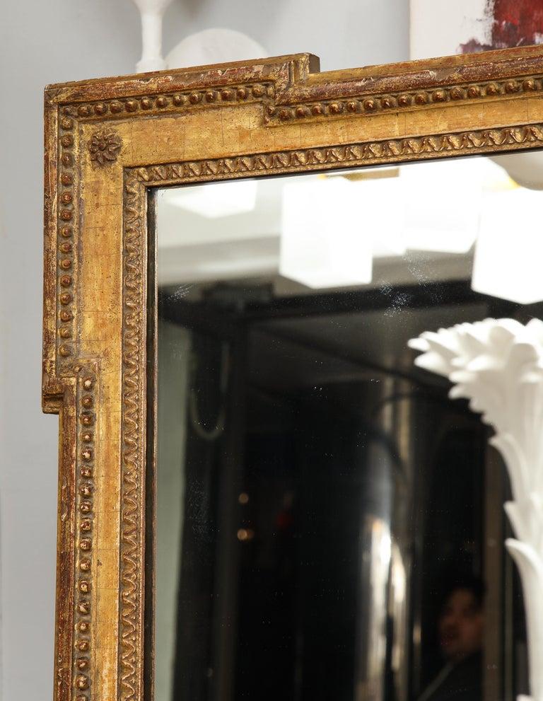 Vintage Louis XVI Style Giltwood Mirror For Sale 3