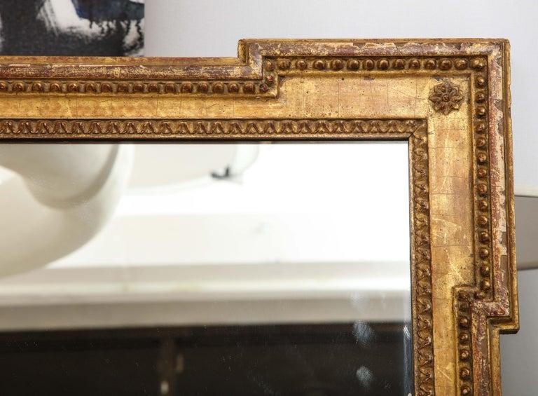 Vintage Louis XVI Style Giltwood Mirror For Sale 4