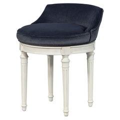 Vintage Louis XVI Swivel Vanity Chair Stool