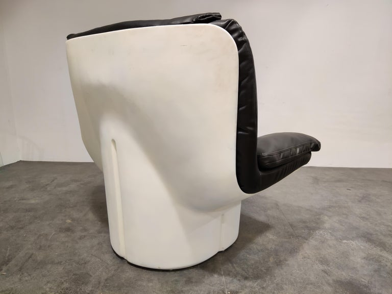 Vintage Lounge Chair by T. Ammannati and G.P. Vitelli for Comfort in Italy, 197 In Good Condition For Sale In Ottenburg, BE