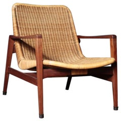 Vintage Lounge Chair Manufactured by Yamakawa Rattan