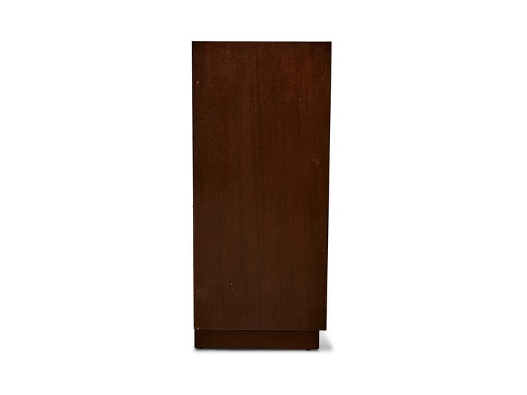 American Vintage Low Walnut Bookcase by Dunbar For Sale