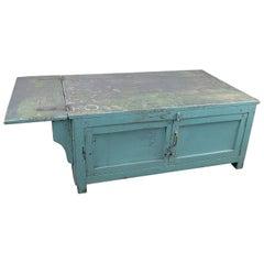 Vintage Low Wooden Storage Cabinet, 20th Century