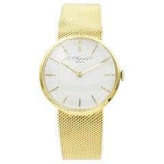 Vintage L.U. Chopard 1013 18 Karat Yellow Gold Watch on Mesh Bracelet