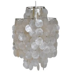 Vintage Lüber Switzerland Verner Panton Fun2 DM Shell Pendant Lamp