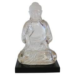 Vintage Lucite Buddha Figure
