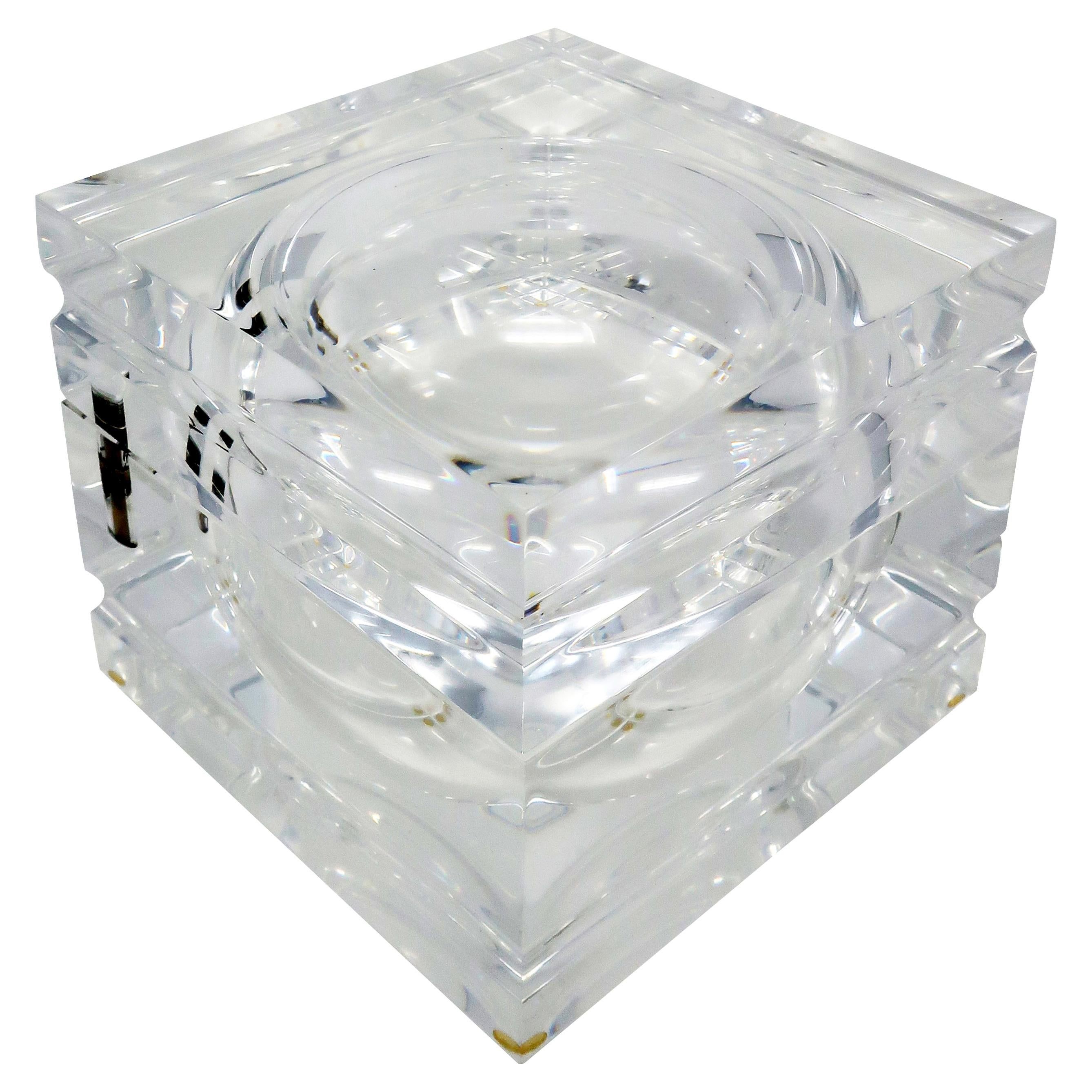 Vintage Lucite Ice Bucket by Alessandro Albrizzi