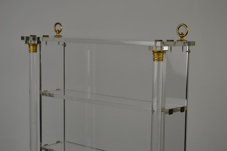 Vintage Lucite Wall Rack or Open Showcase For Sale 5