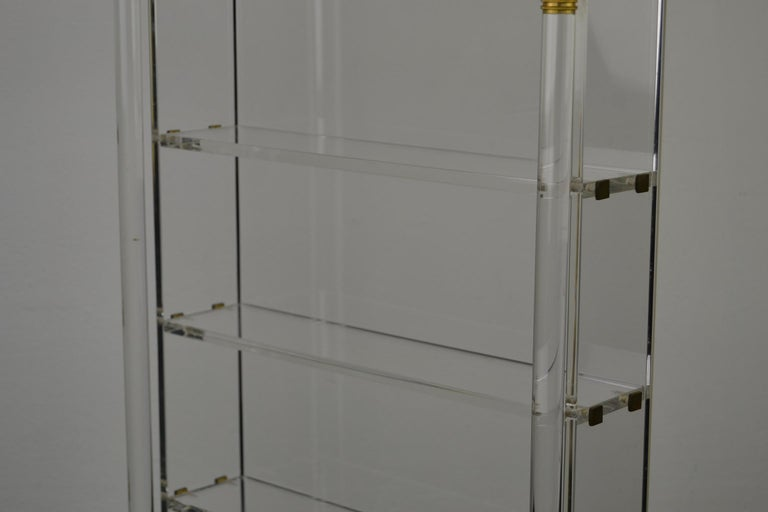Vintage Lucite Wall Rack or Open Showcase For Sale 6
