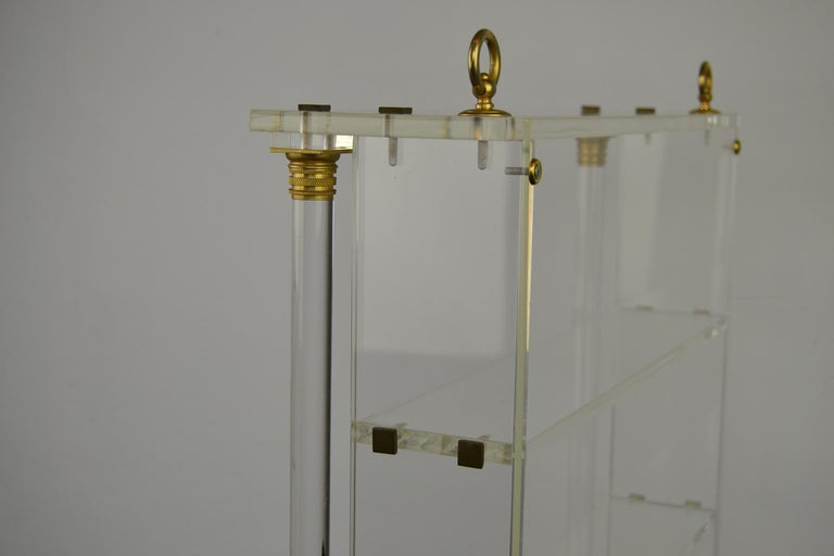 Vintage Lucite Wall Rack or Open Showcase For Sale 9