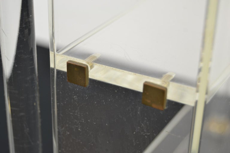 Vintage Lucite Wall Rack or Open Showcase For Sale 10