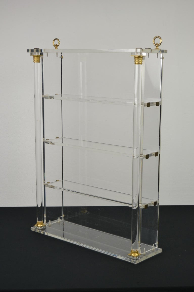 Vintage Lucite Wall Rack or Open Showcase For Sale 13