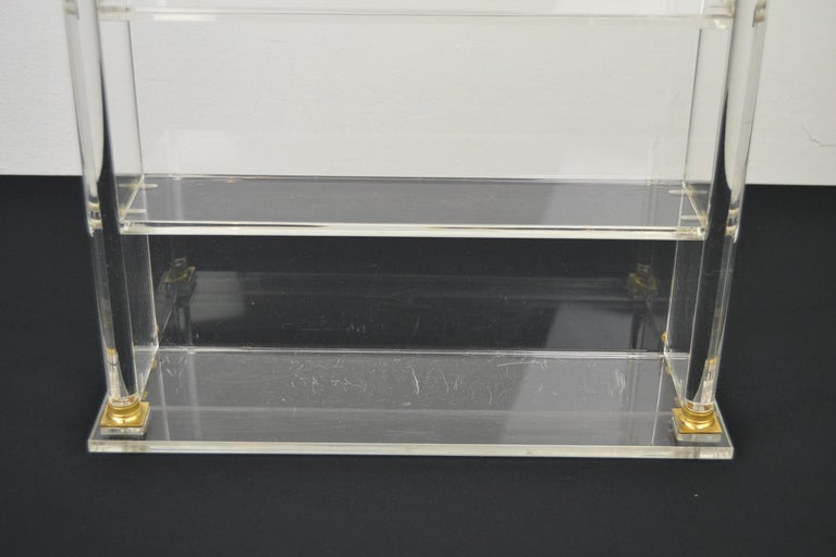 20th Century Vintage Lucite Wall Rack or Open Showcase For Sale