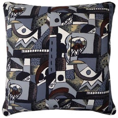 "Vintage Luxury 1970's Silk Cushion ""Marvel"" Bespoke pillow Made in London"