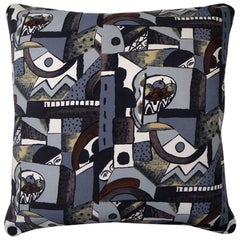 "Vintage Luxury 1970s Silk Cushion ""Marvel"" Bespoke Pillow Made in London"