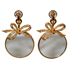 Vintage Magnifying Loupe Clip Earrings