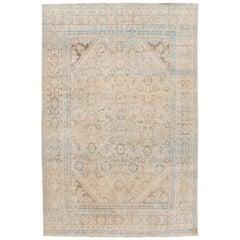 "Vintage Mahal Room Size Wool Rug. 7'9""x11'6"""