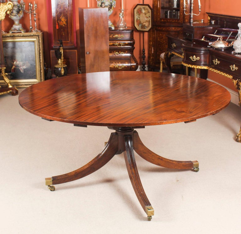 Dining Furniture Sale: Vintage Mahogany Jupe Dining Table, Leaf Cabinet And Eight