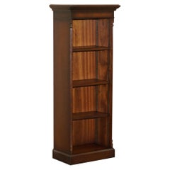 Vintage Mahogany Library Bookcase with Height Adjustable Shelves