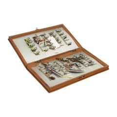 Vintage Mahogany Salmon Fly Box