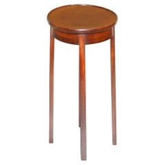 Vintage Mahogany Side Table Can Be Used as Plant Jardinière or for Sculptures